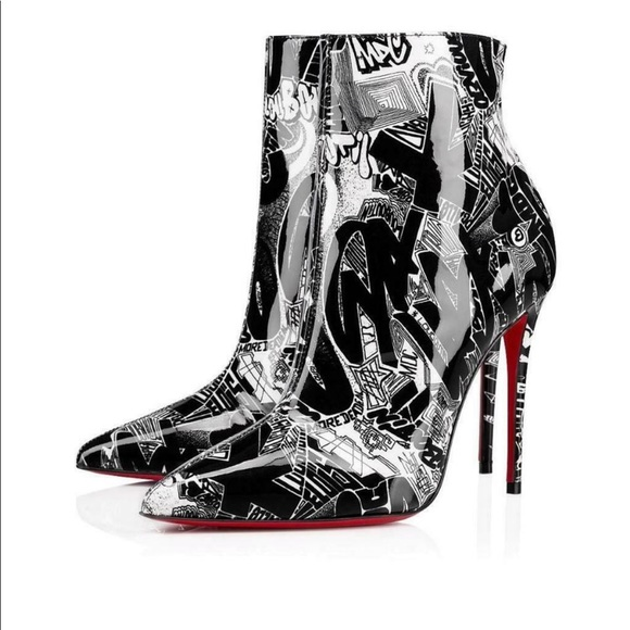 4f75177bb91 CHRISTIAN LOUBOUTIN GRAFFITI BOOTS (tags attached) NWT